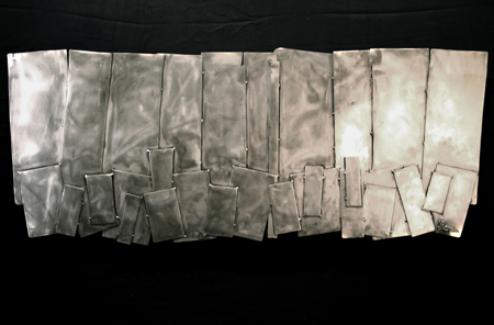 Feature Article, 2010, polished welded steel, 24 x 60 in, $7,000