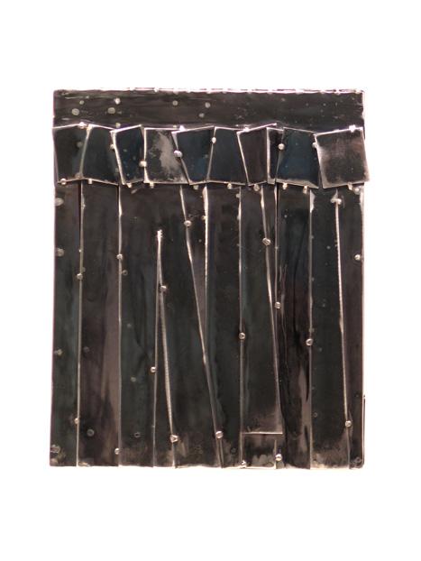 Urban Cadence #5, 2011, blackened, welded steel, 17 x 14 in, SOLD