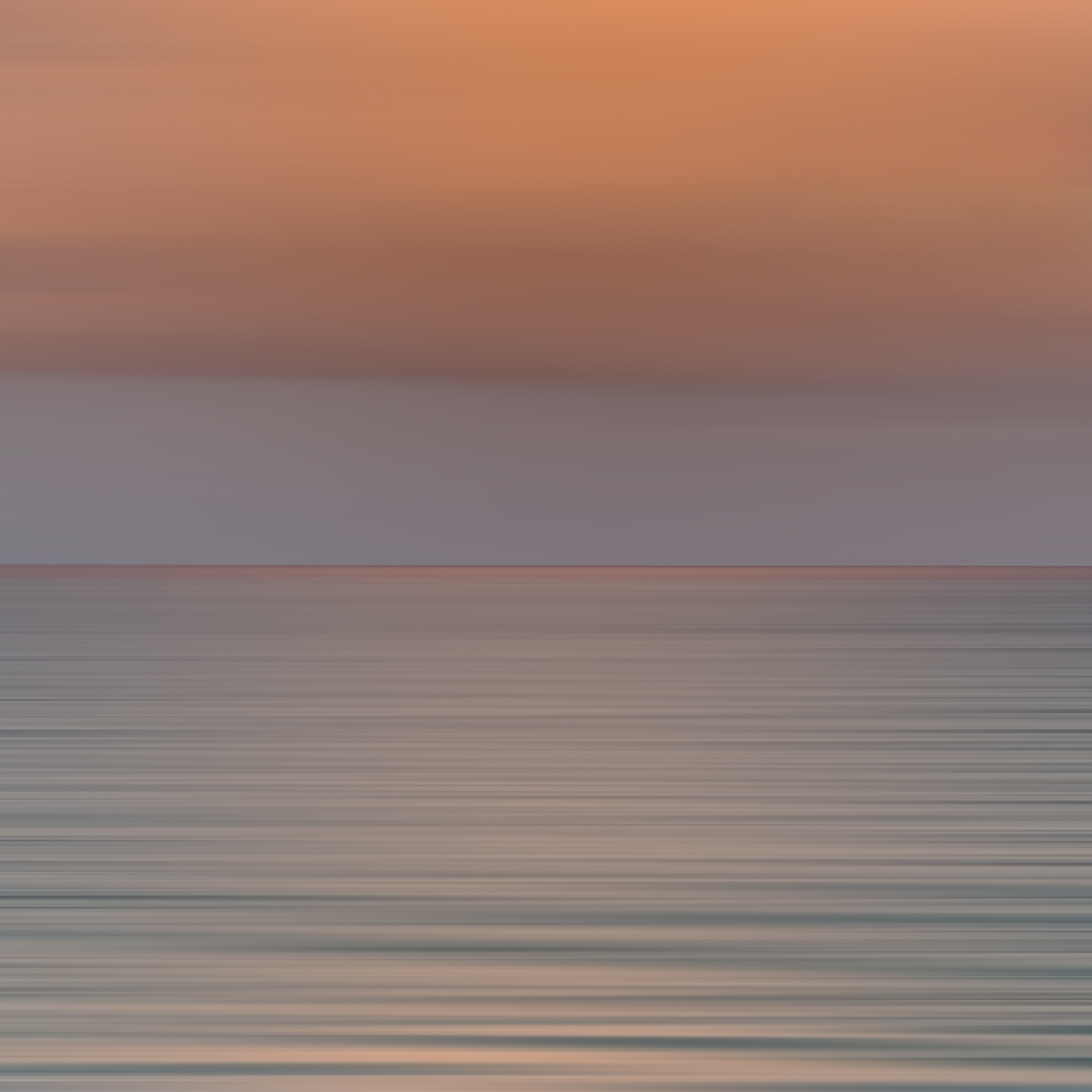 Light and Sea Dusk, 2018, photograph on plexiglass, 40 x 40 in, edition of 10, $7,500 (other sizes available, priced accordingly)