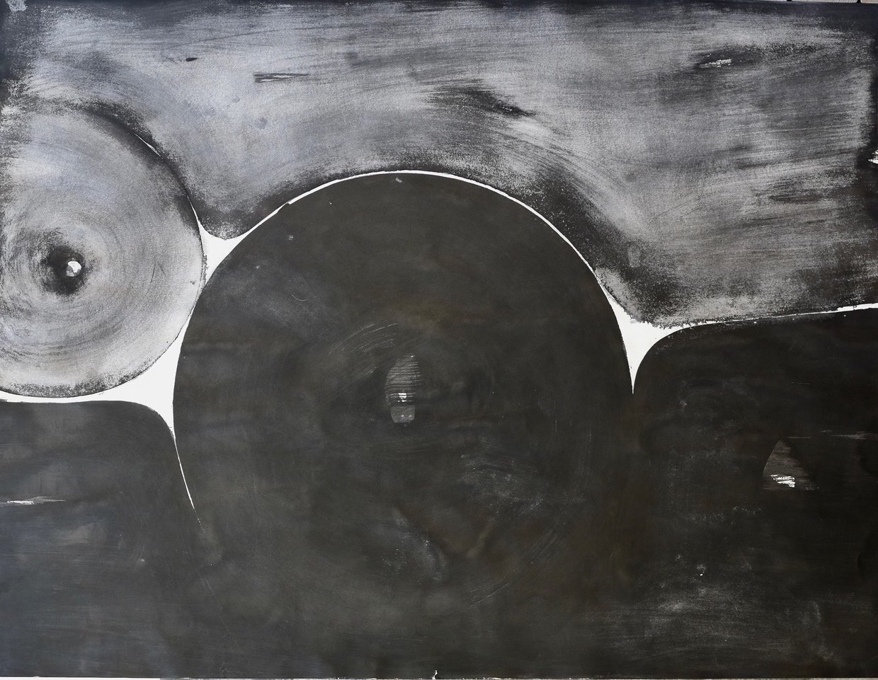 Black and Gray #4, early 70s, 39.5 x 50.5 in (framed), $7,000
