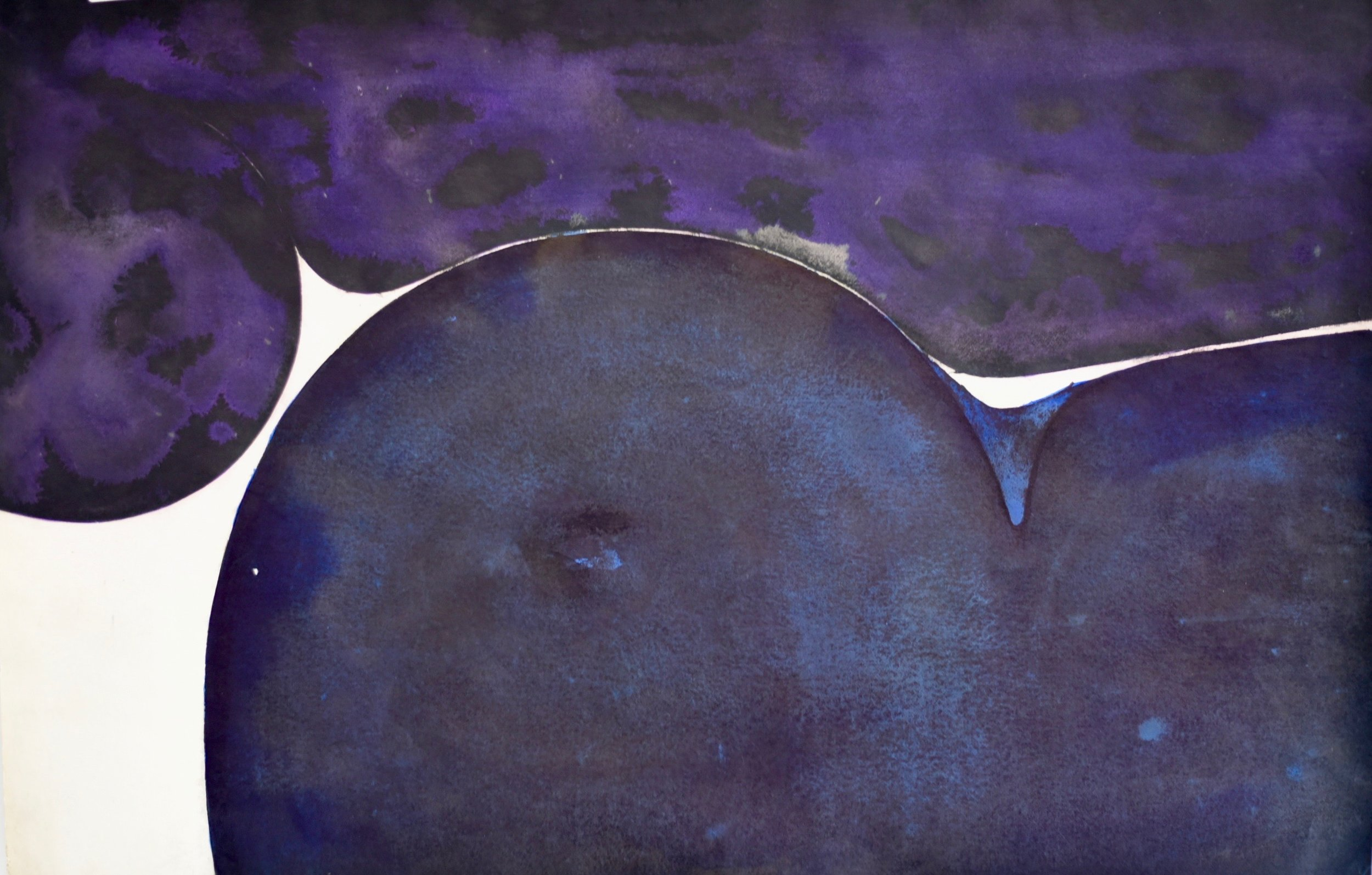 Untitled Purple, early 70s, ink on paper, 30 x 40 in, SOLD