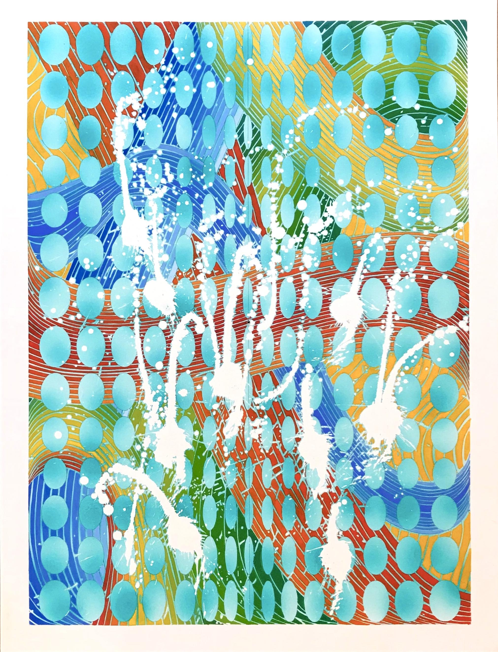 Mermaids on the Beach, 2018, watercolor, 18 x 24 in, $1,500