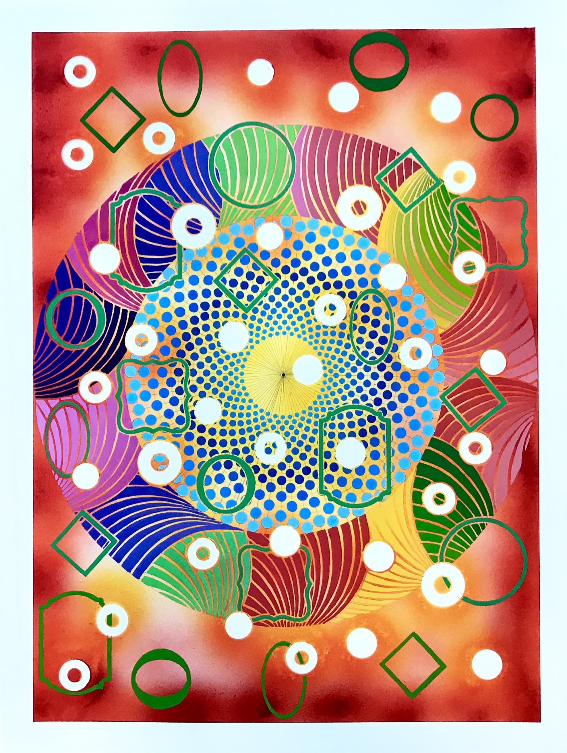 Midheaven, 2019, watercolor, 18 x 24 in, $1,500