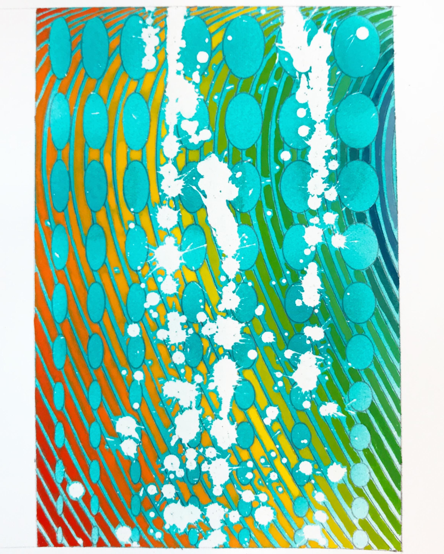 Montauk Splash, 2018, watercolor, 5 x 7 in, $300