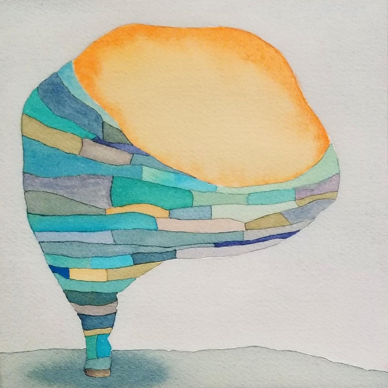Color Study No. 12, 2018, watercolor, 9 x 9 in, SOLD