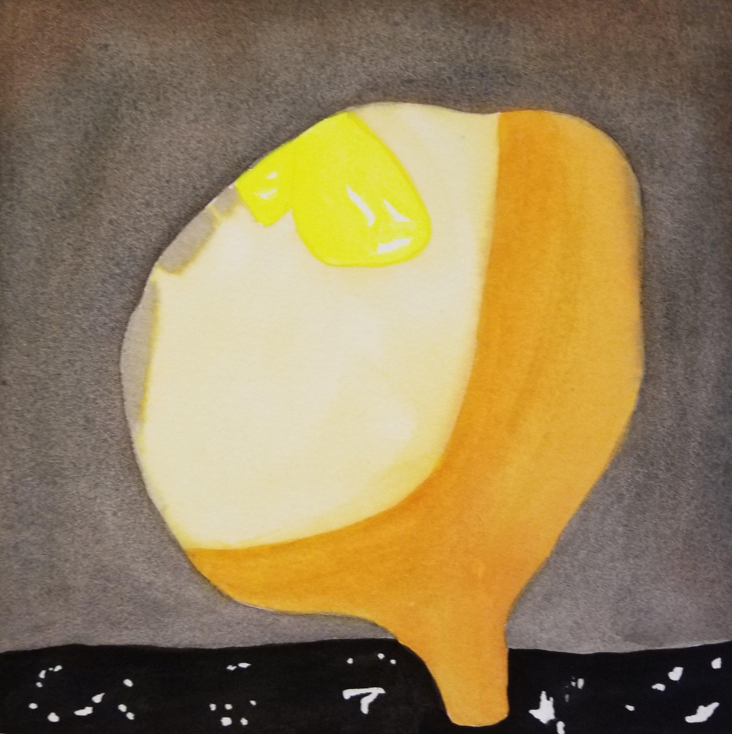 Color Study No. 1, 2018, watercolor, 9 x 9 in, SOLD