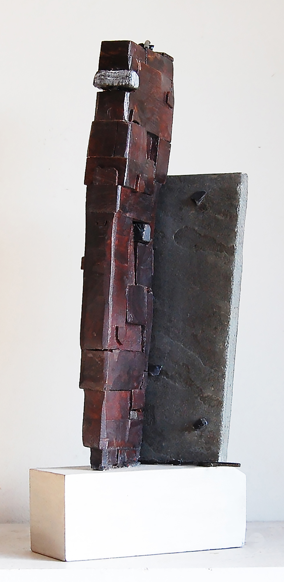 The Moor, 2017, bronze, marble, wood, 12 in, $3,000