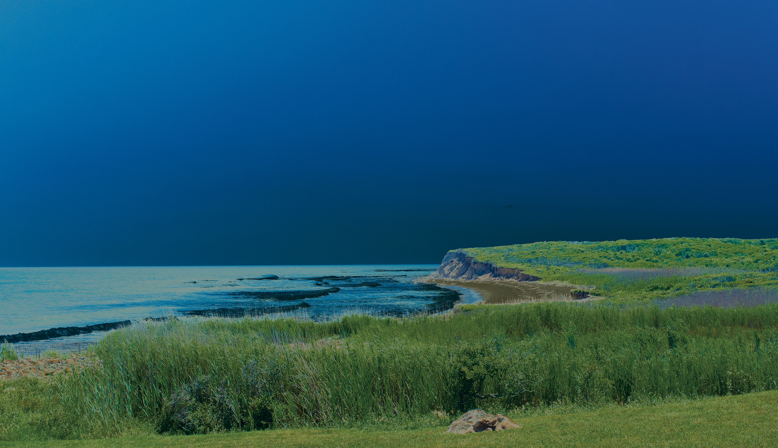 Montauk Warhol Cliff, 2018, photo on aluminum, 70.9 x 20.3 in, edition of 5 (3 available), $5,000