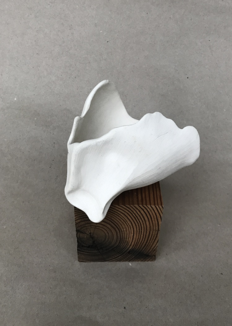 Untitled, 2014, unglazed stoneware, 5 x 4 x 3 in, SOLD