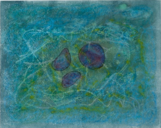 Jellies, monotype on paper, 15 x 19 in, SOLD
