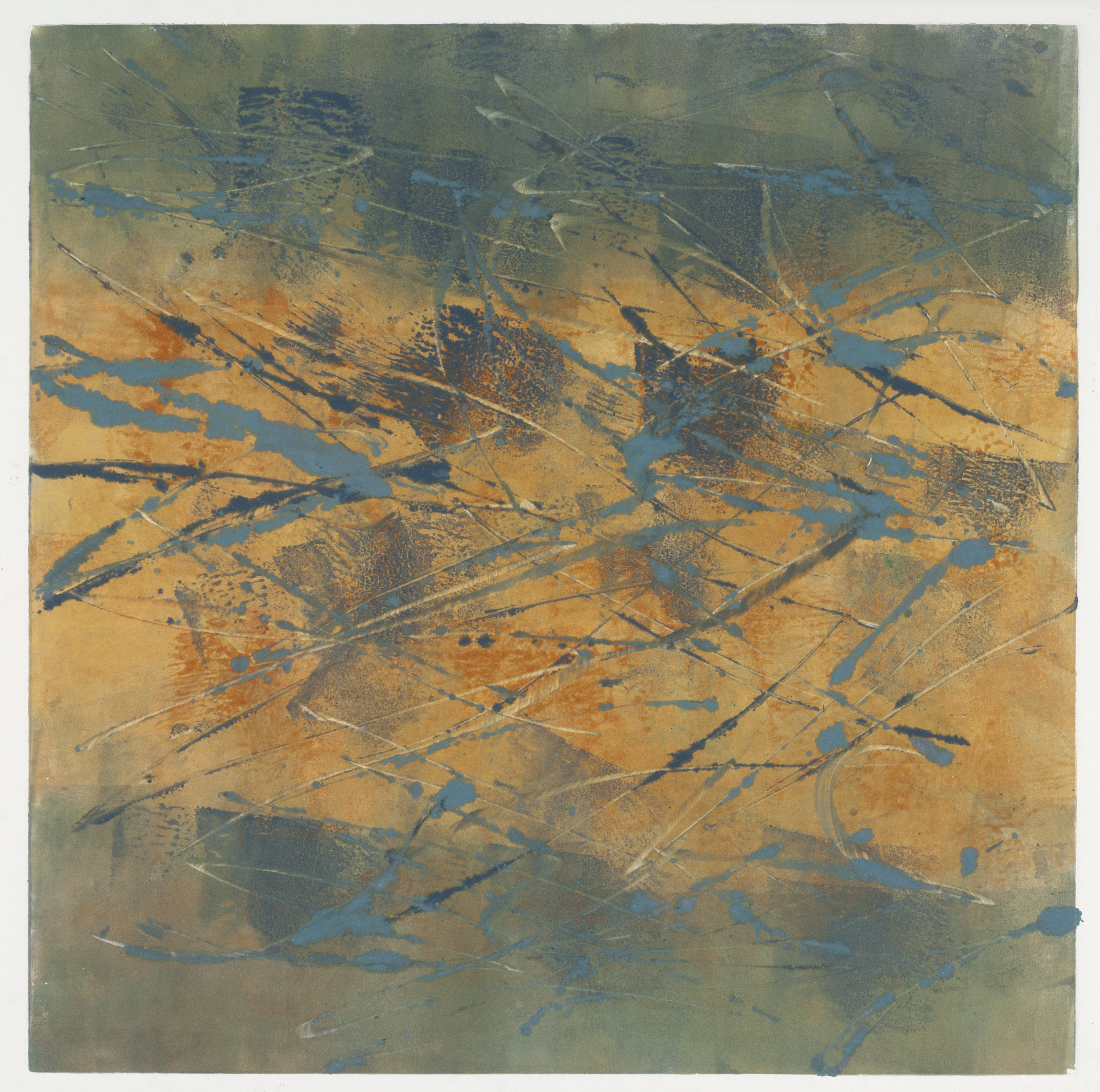 Autumn, 2018, monotype, 14 x 14 in, $450
