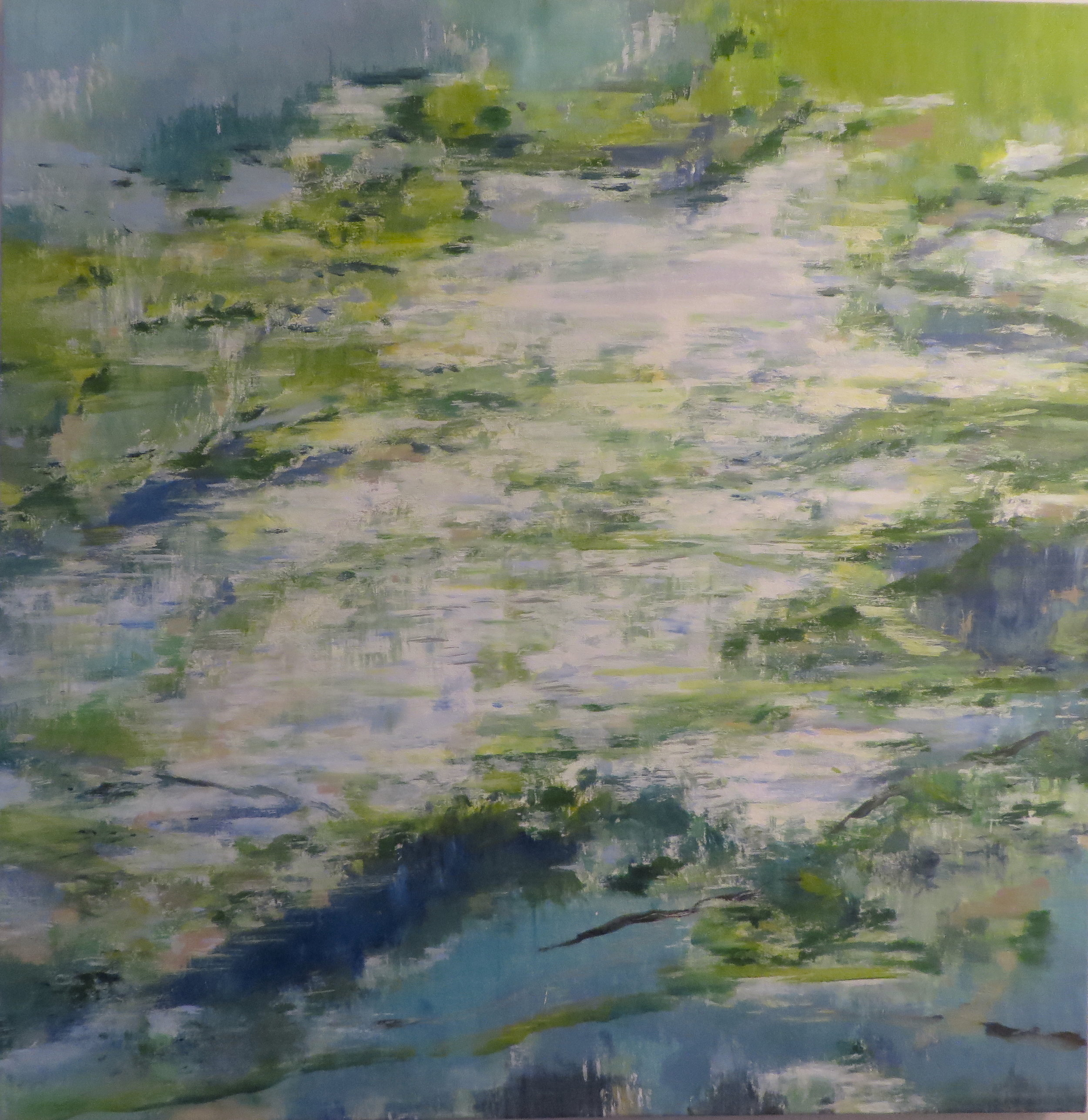 Earth Green Water Blue, 2012, oil, canvas, 38 x 36 in, SOLD