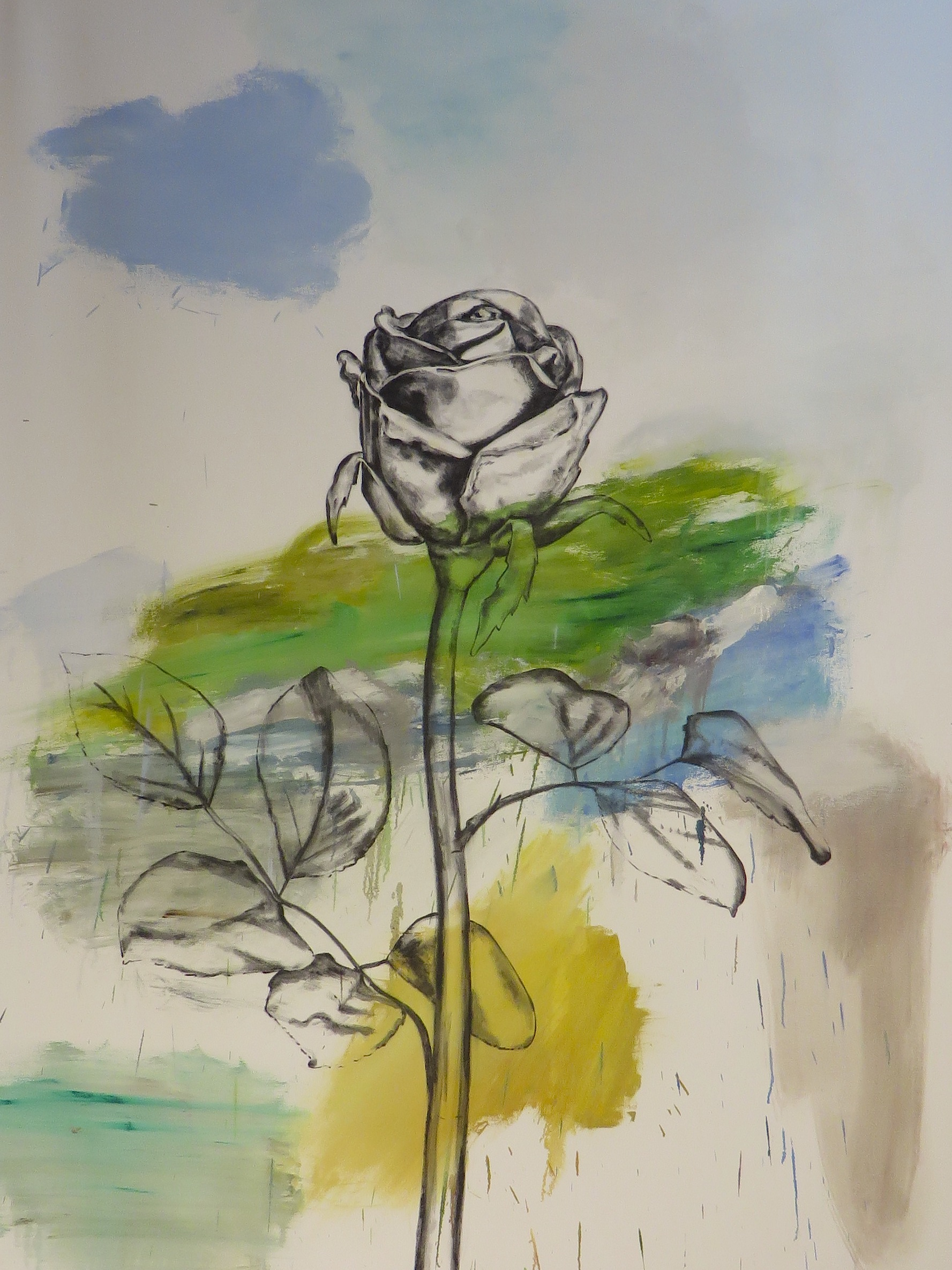 Abstract Rose, 2011, oil, canvas, 92 x 78 in, $12,000
