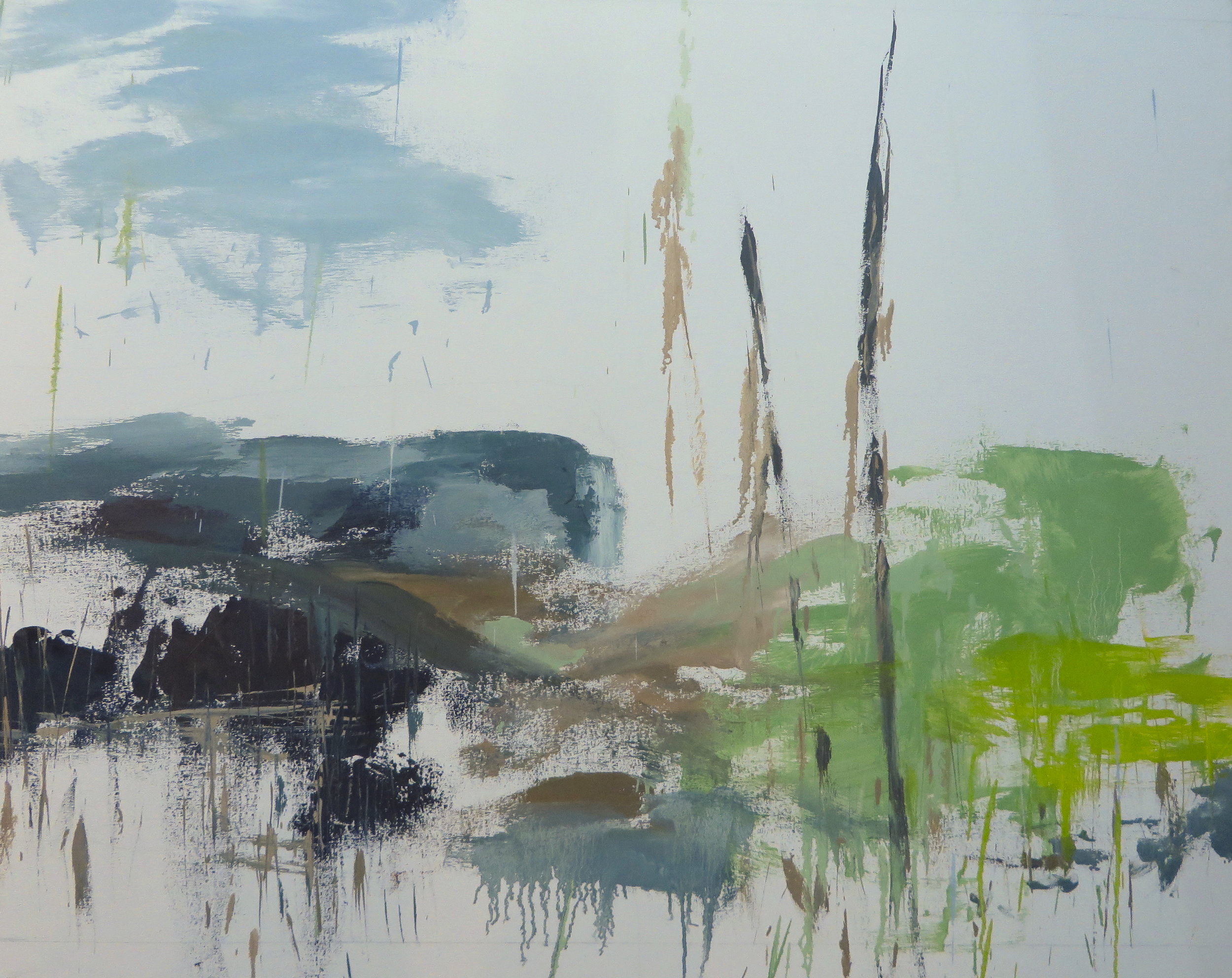 Imagined Landscape, 2009, oil, canvas, 48 x 54 in, $7,800