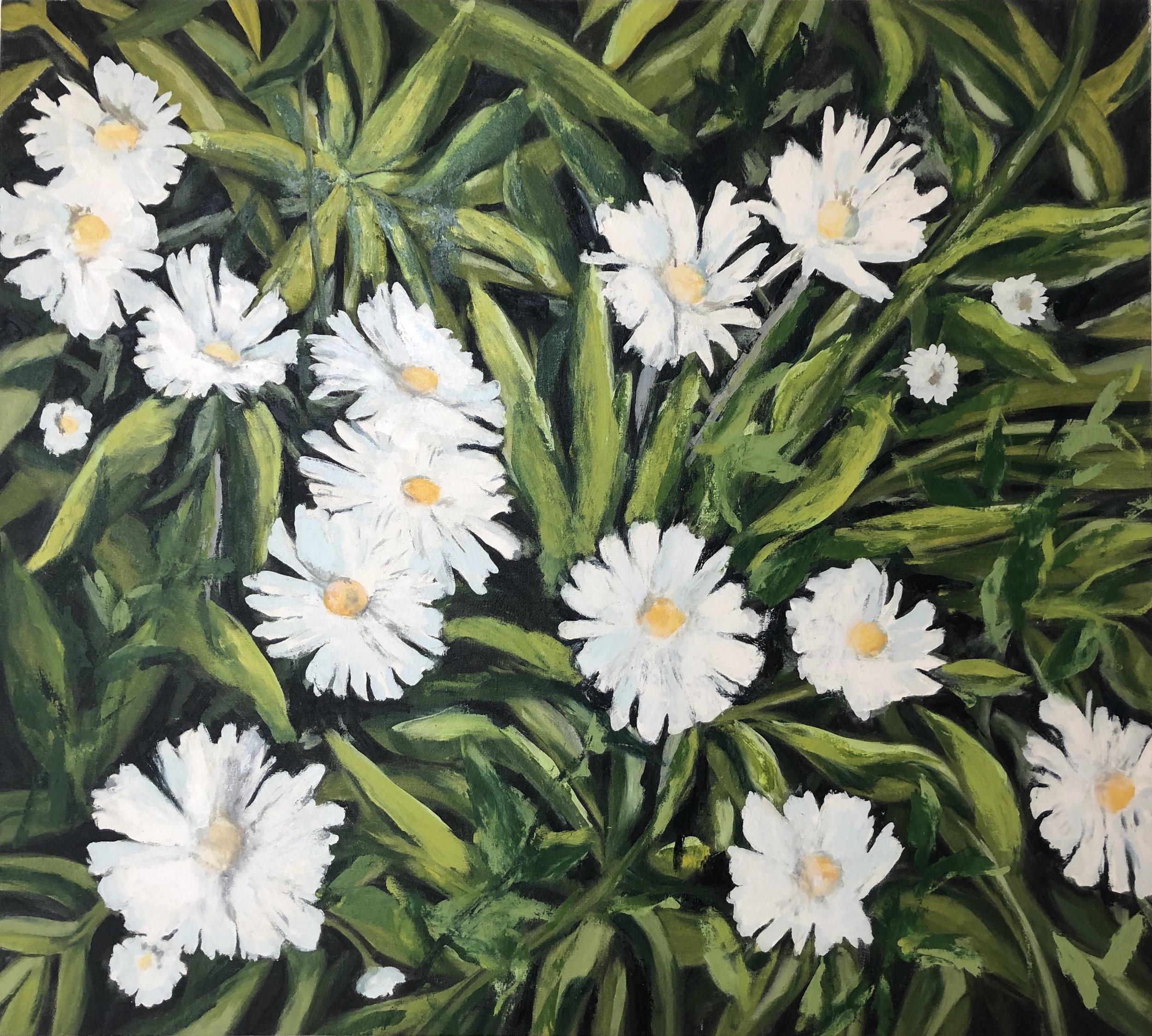 Wildflower Series 1, 2009, oil, canvas, 42 x 47 in, $7,800