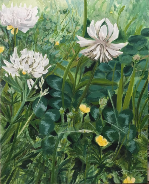 Large Clover, 2008, oil, canvas, 60 x 48 in, $12,000