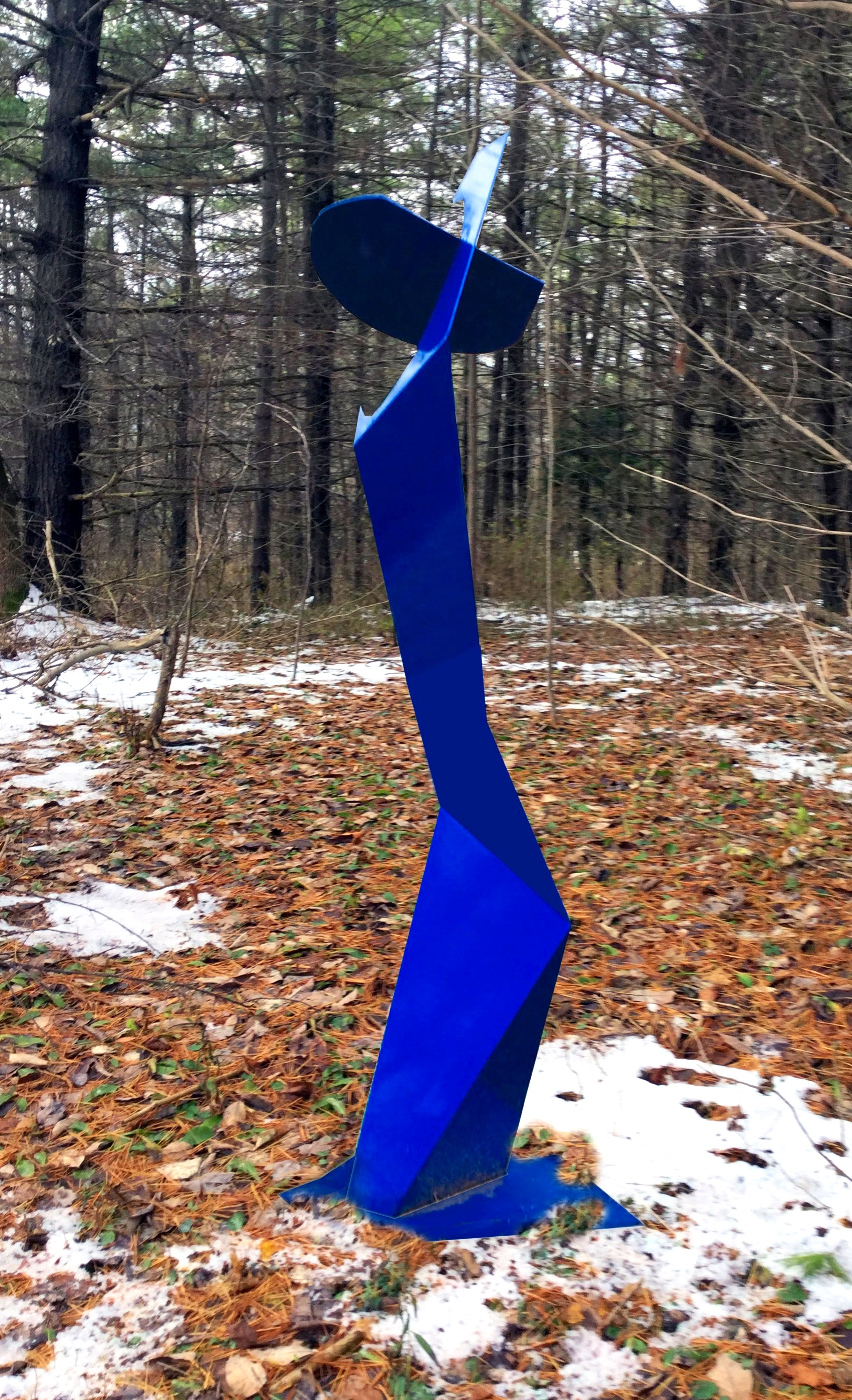 Pure Form #8, painted welded steel, 85 x 30 x 24 in, $15,000