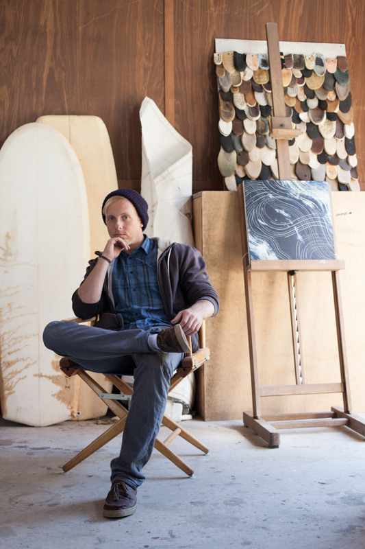 Bluedorn in his studio