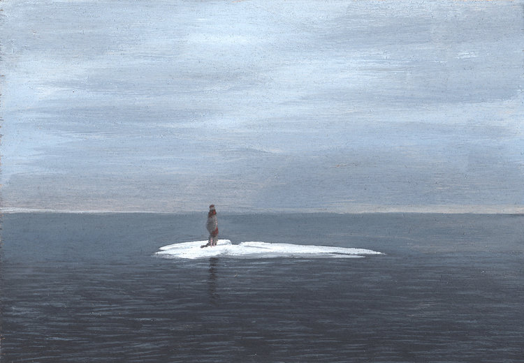 Solitude, 2018, acrylic on wood, 5 x 7 in, SOLD