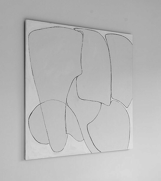 Line Shape Form #1, 2019, acrylic on birch panel, 48 x 48 in, $3,500