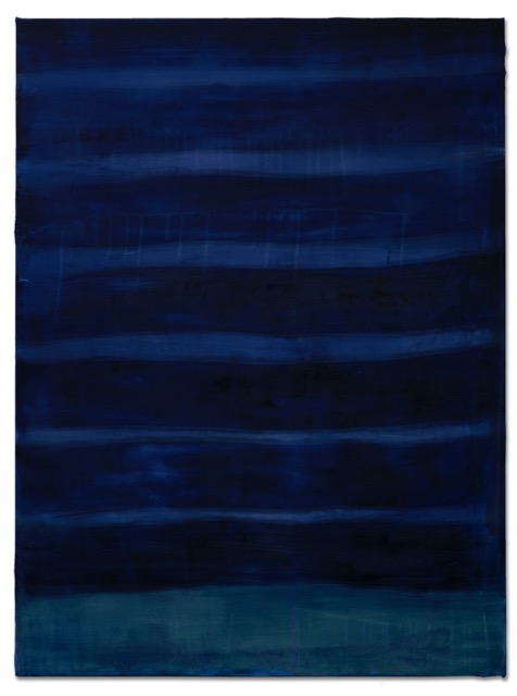 Night Ocean, 2019, dyed silk, acrylic, on canvas, 30 x 40 in, $6000
