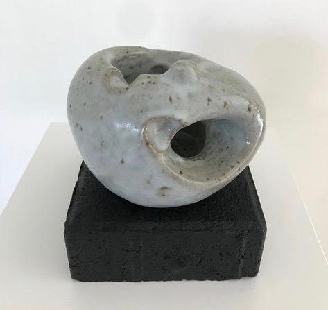 Untitled, 2013, stoneware, glazed, reduction fired, 6 x5 x4 in, $600
