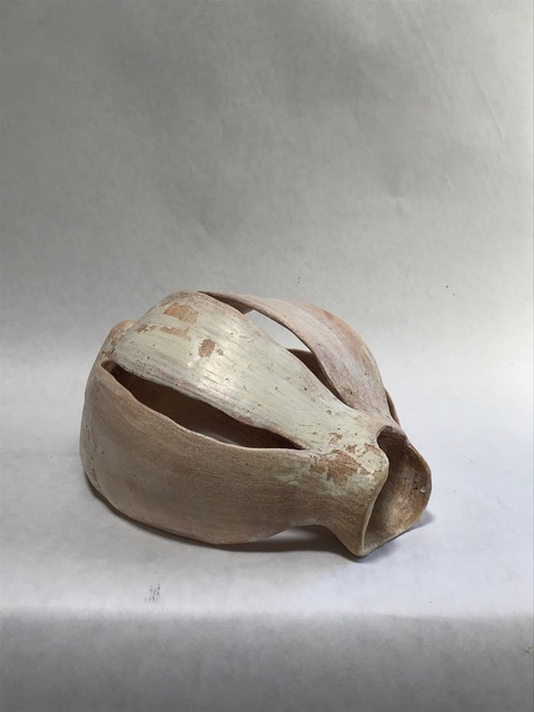 Untitled, 2014, stoneware, with terra sigillata, 8 x 10 x 4.5 in, $400