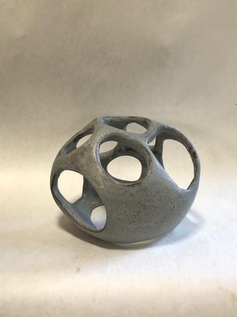 Untitled, Rosario Varela, 2019, glazed stoneware, 6 x 4 x 5.5 in, $300