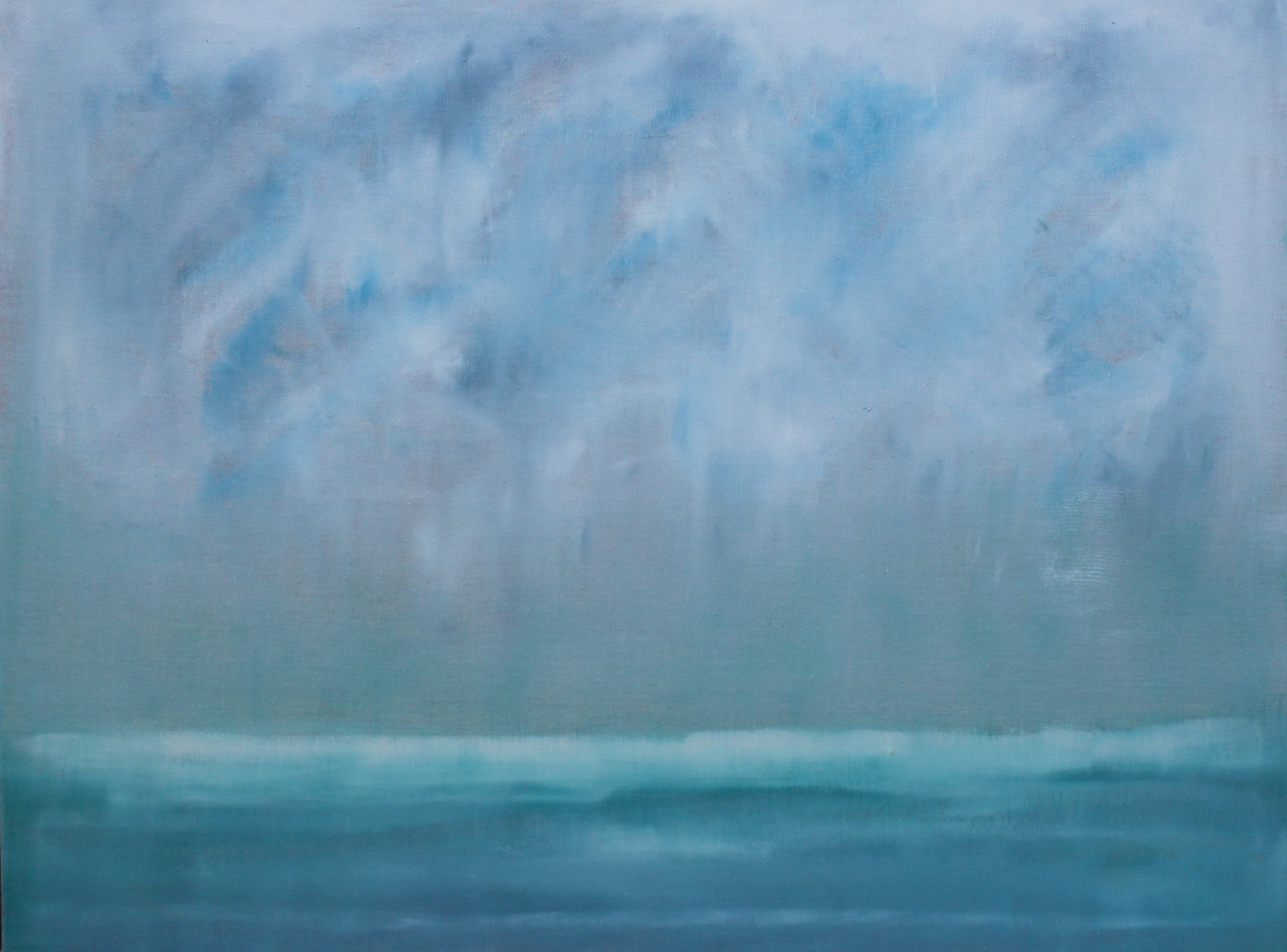 Aquamarine II by Michele D'Ermo, 2017, oil on linen, 30 x 40 in, $5200