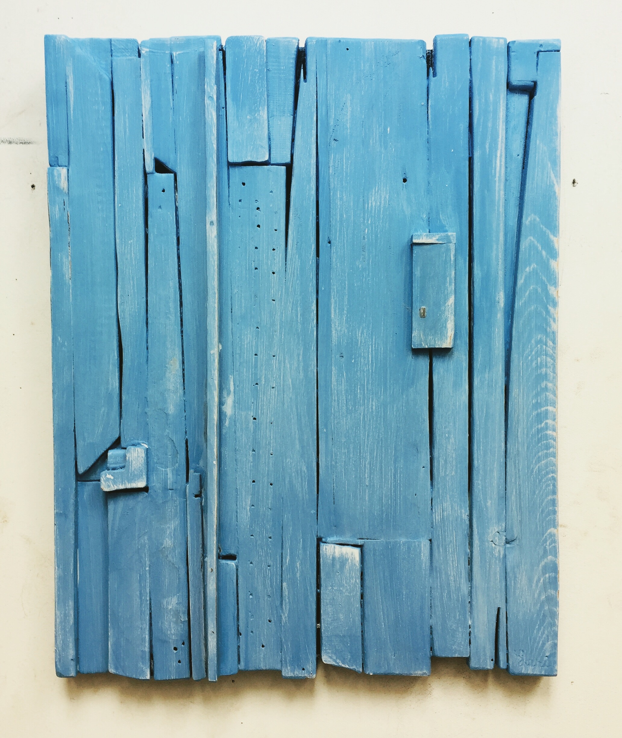 Summer Blue by Dennis Leri, 2018, acrylic on layered wood, 23 x 18 in, $3000