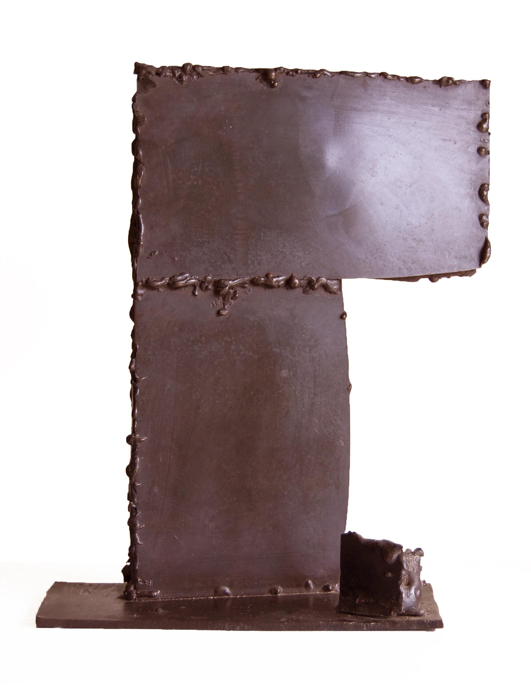 Corner, welded bronze, 20 in high, $3000
