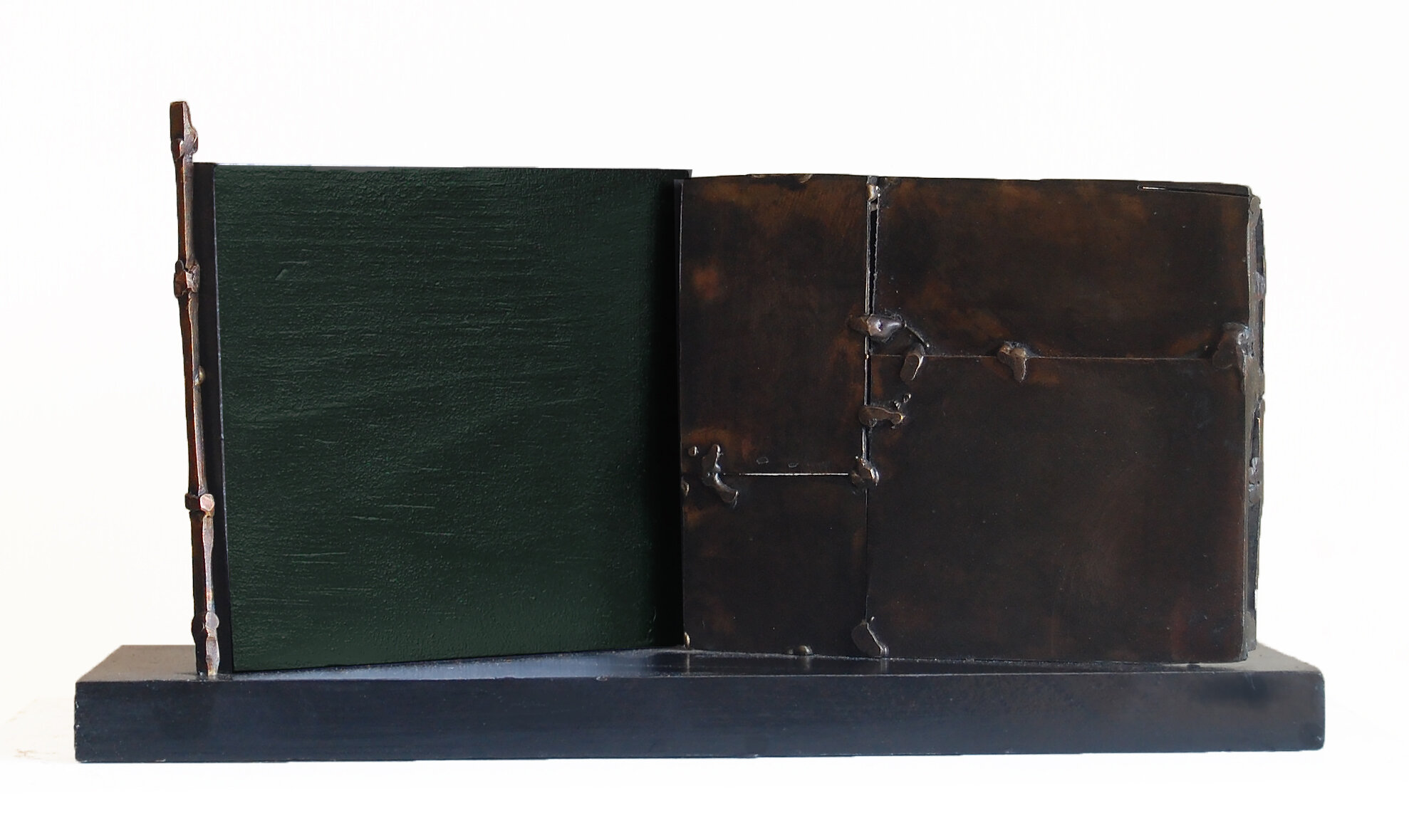 Second Story, 2019,  bronze, wood, 13 in, $3500