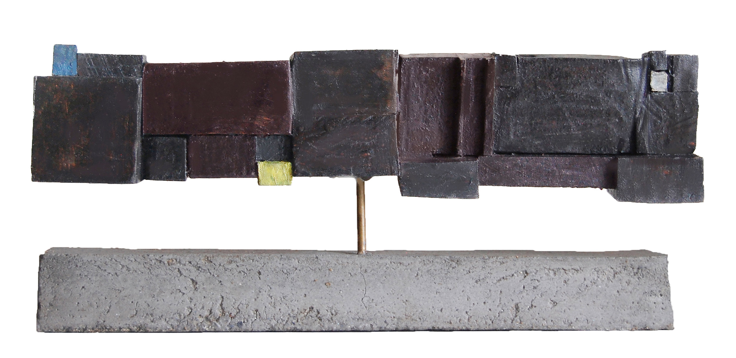Antigone, 2019, wood, marble, bronze, 16  X 6 in,  $3000
