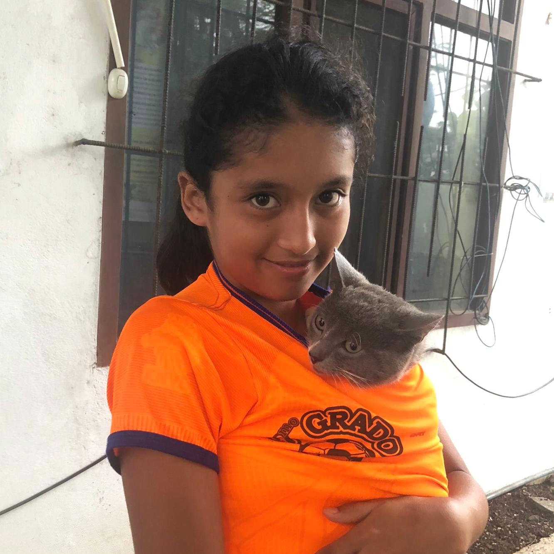 Figure 1.  Selena with Plumito. Photo: Darwin Animal Doctors