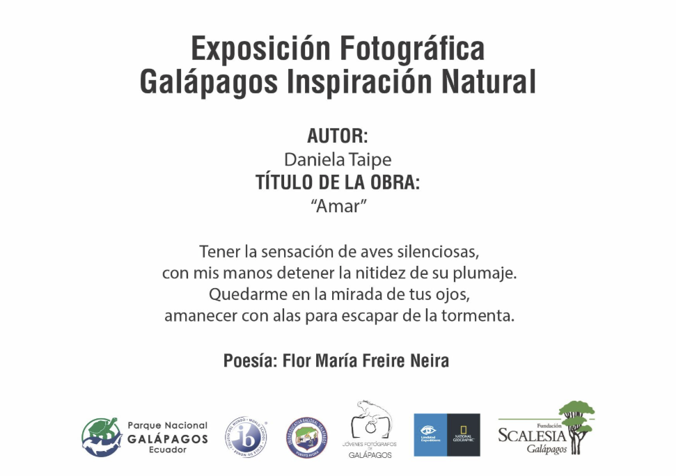 Figure 25 . Poems from Galapagos authors inspired by the photographs of the Young Photographers in the Galápagos Natural Inspiration exhibit.