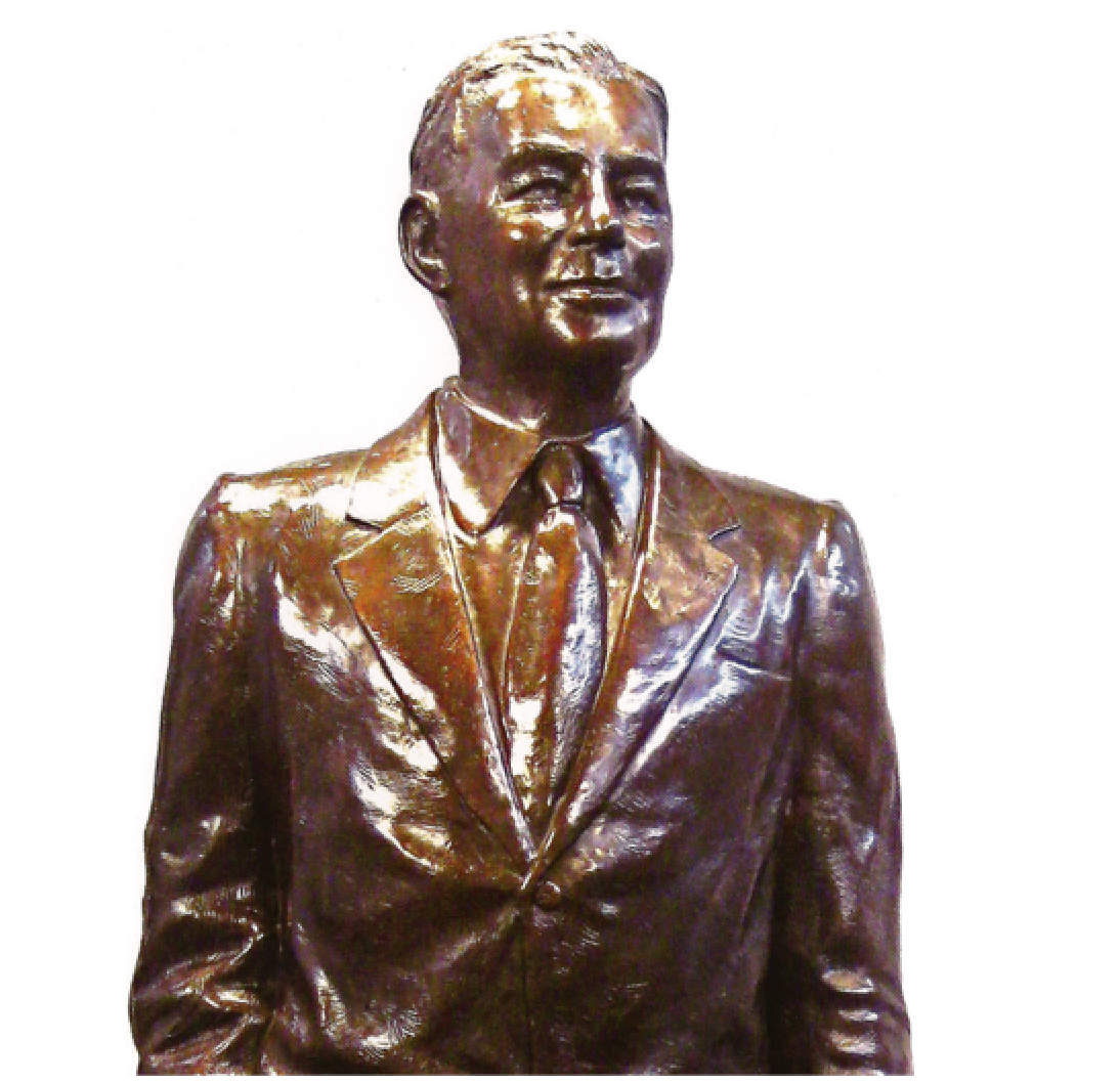 Donald Douglas, Head of Boeing  Bronze detail