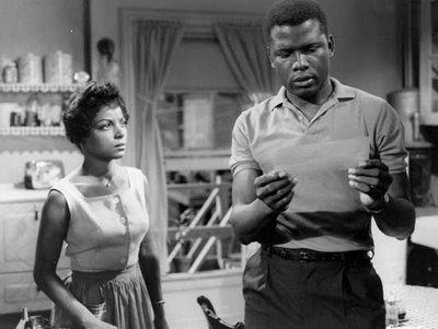 Ruby Dee as Ruth Younger and Sidney Poitier as Walter Lee Younger via http://bastardswordsman.tumblr.com/post/12480838133/what-happens-to-a-dream-deferred-c-langston-hughes