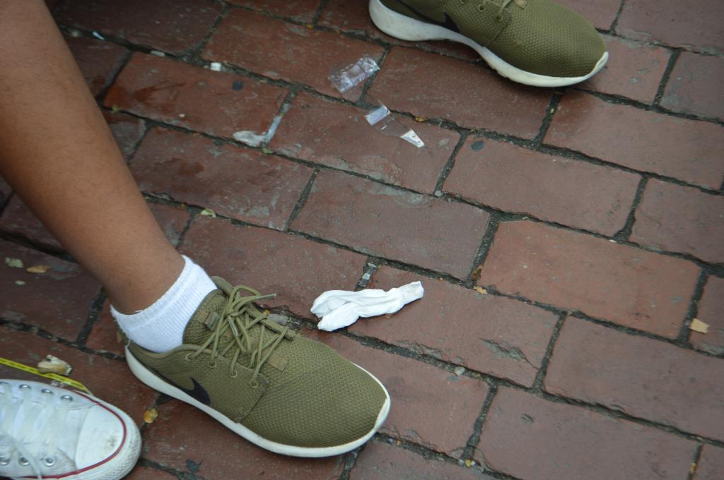 Nike Roshe Run in the Olive green colorway.