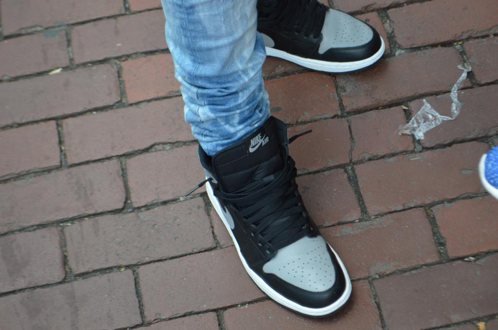 Kamal's Air Jordan I Retro in the black/grey colorway