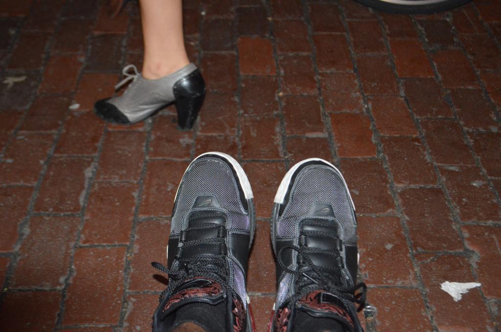 My Nike Zoom LeBron IIs in the Black/Crimson colorway featuring a cool-looking retro heel.
