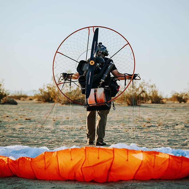 What is it? - Simply put, powered paragliding is having a paraglider overhead and a motor on your back. Imagine sitting in a canvas lawn chair in the sky.