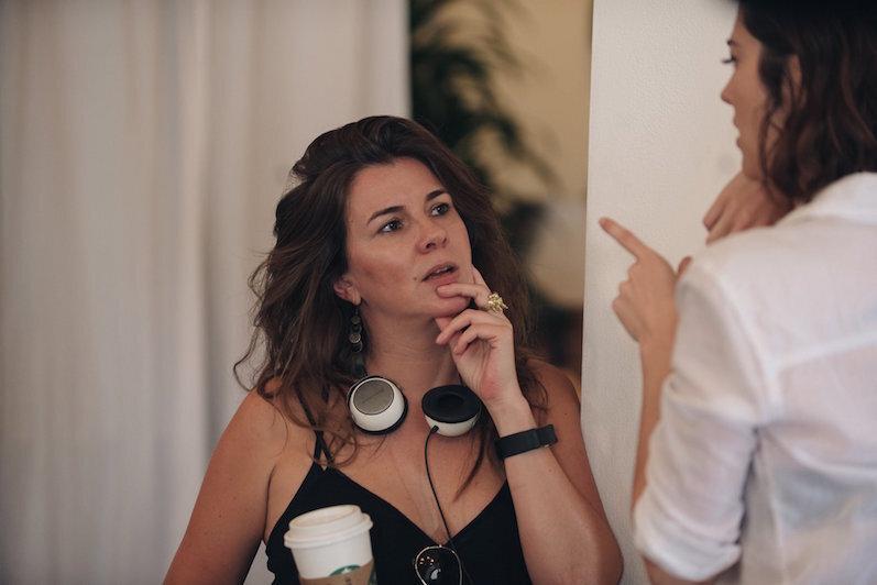 Working Writers - Eva Vives on set