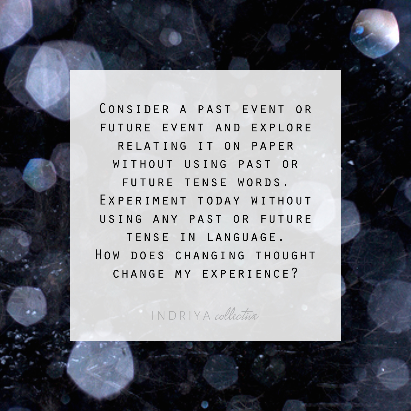 Presence / Journal Topic by Patti Rose
