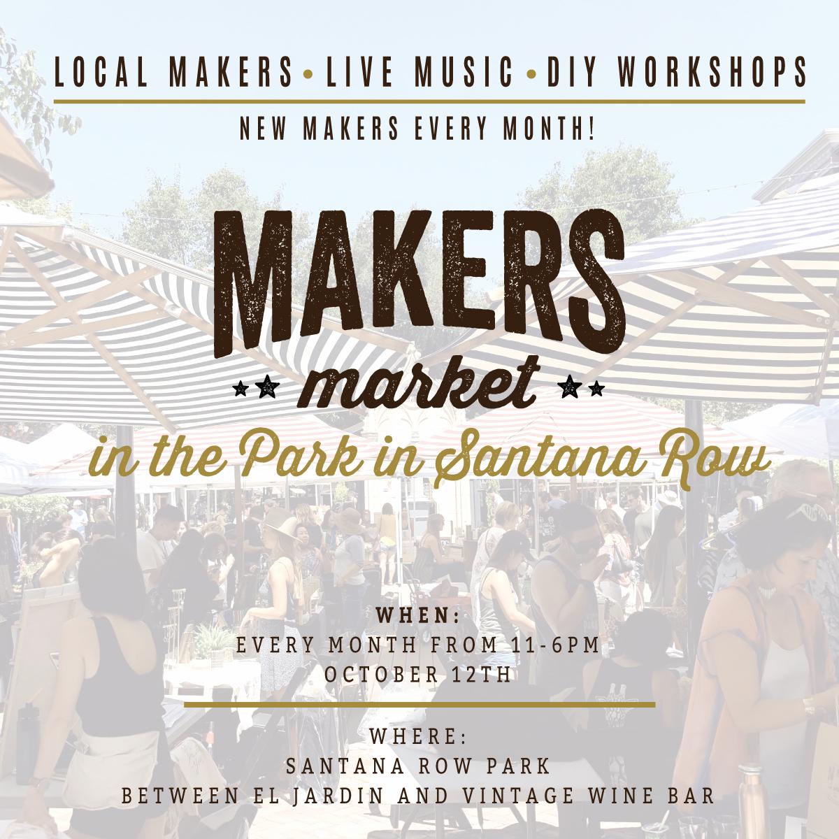 Makers Market Santana Row San Jose