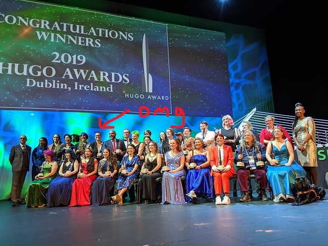 Hugo Award Winners, Acceptors and Presenters, 2019  by John Scalzi /  CC BY-NC 2.0