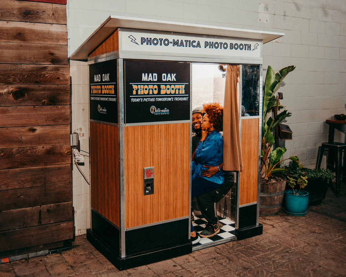 We can custom build photo booths to survive in the wild outdoors