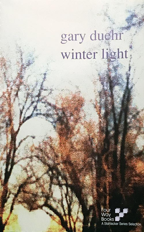 """Winter Light - """"Winter Light"""" proceeds through a Boston winter at a walker's pace the reader falls in pace with. What unfolds is a detective story, or, better yet, a detective love story. Under """"the weight of this life,"""" the narrator is an anxious sleepwalker who registers the tremor of the everyday.63 pages, 6 x 9"""