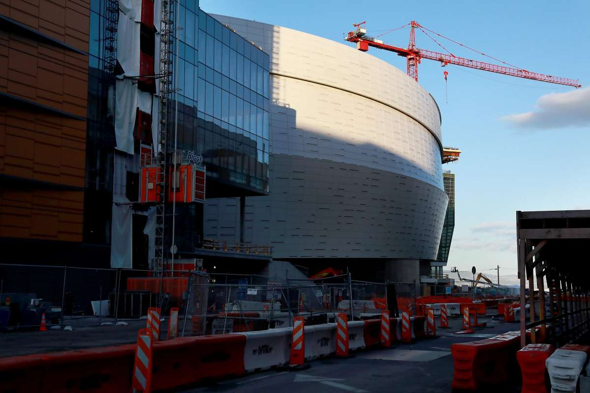 The Chase Center arena is taking shape in Mission Bay and is set to open in September. Residents are worried about congestion. Photo: Photos by Yalonda M. James / The Chronicle