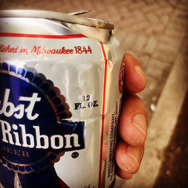 This Nashville damaged PBR was given to me for free... If you are damaged and broken, you still have worth to me.  #songwriting hasmethinkingsodeep #nashvillesongwriters #nashvillecountry