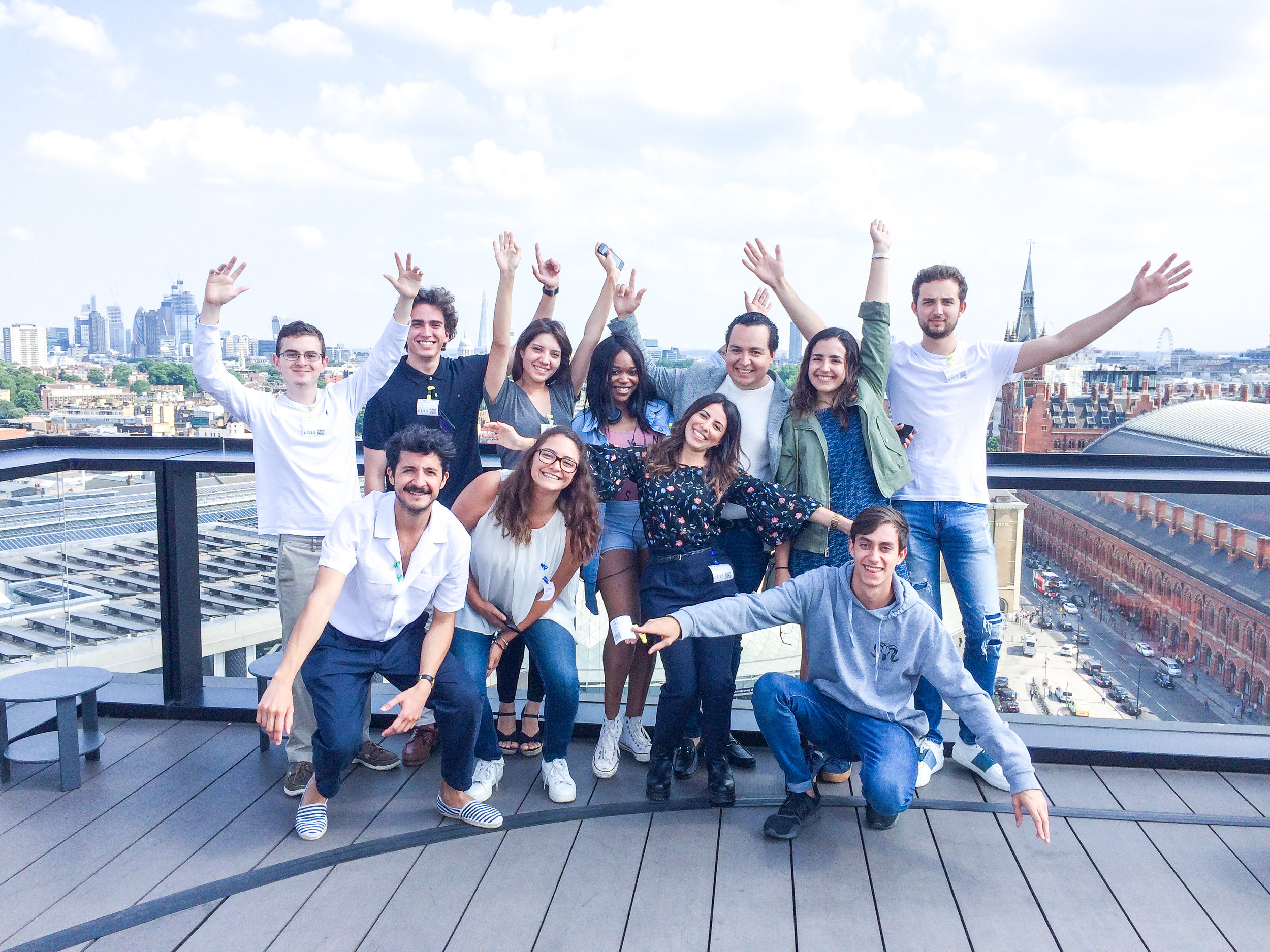 Group of young aspiring high impact entrepreneurs in summer program abroad